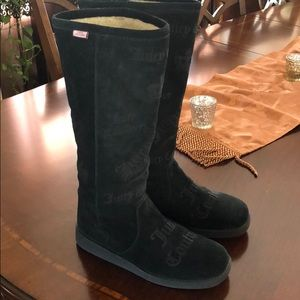 Juicy black boots use one time good condition